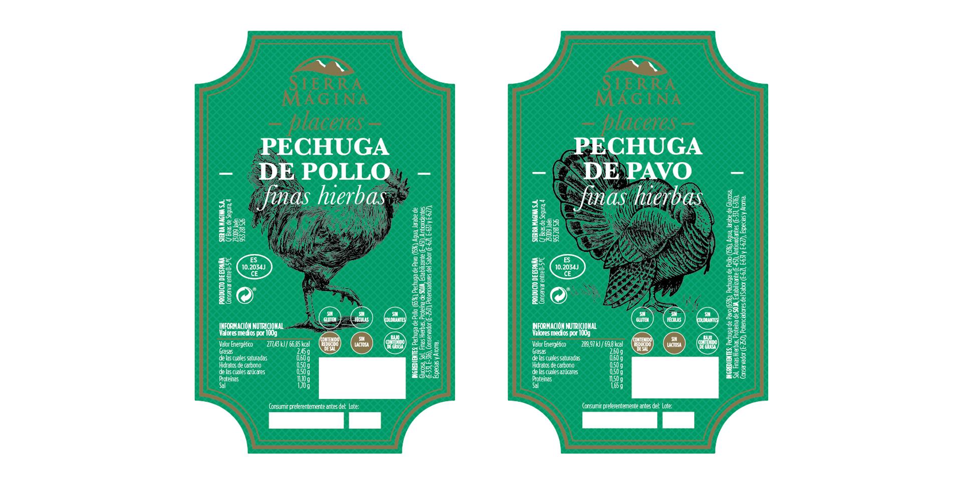 Sierra Mágina embutidos - diseño etiquetas