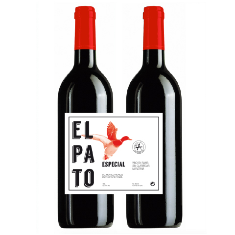 Fino El Pato - packaging vino fino El Pato