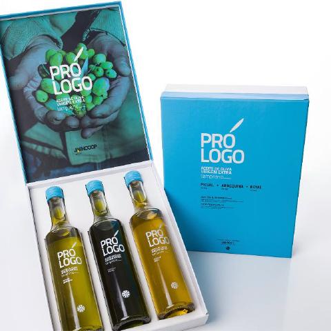 Prólogo de JaenCoop - diseño de packaging aceite de oliva virgen extra en Jaén - Jaén Selección 2016